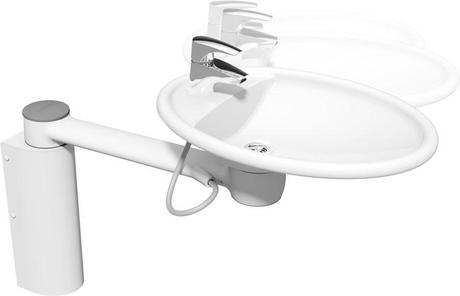 CREE LAVABO PIVOTANT HAUTEUR VARIABLE