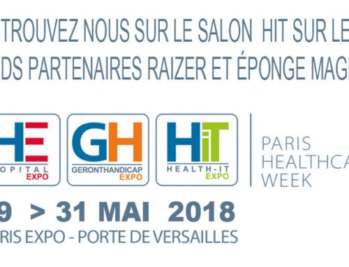 Présent sur le salon HIT Paris Healthcare Week du 29 au 31 mai 2018 – Porte de Versailles – Pavillon 1