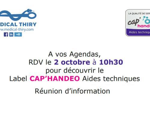 Label CAP'HANDEO Aides techniques – Réunion d'information
