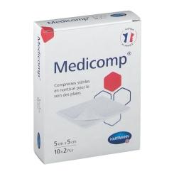 Medicomp® Compresses stériles en nontissé 5 cm x 5